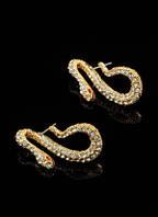 """Серьги """"Золотые змейки"""" от Студии  www.LadyStyle.Biz"""