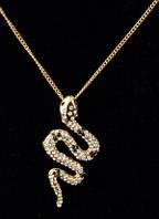 """Кулон на цепочке """"Змейка"""" от Студии  www.LadyStyle.Biz"""