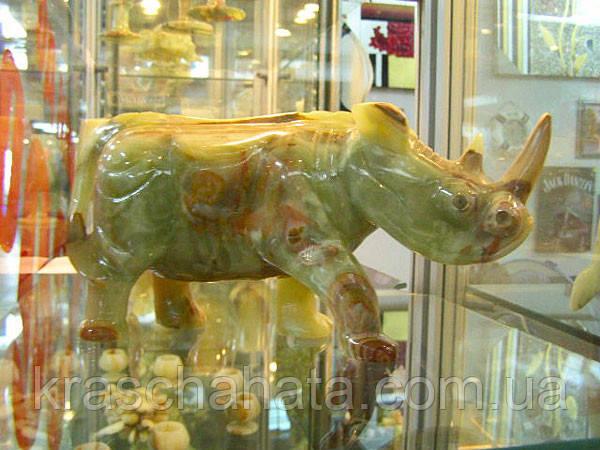 Носоріг, статуетка, 27х15х10 см, Онікс, Оригінальні подарунки, Дніпропетровськ