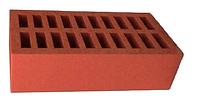Кирпич лицевой красный керамический одинарный, М 175