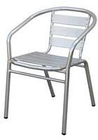 Алюминиевый стул белый