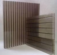 Поликарбонат сотовый  толщина 10 мм. бронза