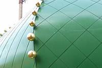 Купол церковный металлический с покрытием нитрид титана под золото, под медь, зеленого, синего и других цветов