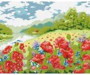 Поле маков серия Пейзаж рисование по номерам 40 х 50 см Идейка MG152