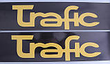 Наклейки на порожки  (чёрно-жёлтые) на Renault Trafic 2001->  —  Турция, фото 4