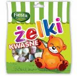 Жевательные конфеты с кислинкой Zelki Kwasne , 80 гр