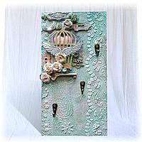 Ключница настенная ручной работы Вешалка для полотенец на кухню