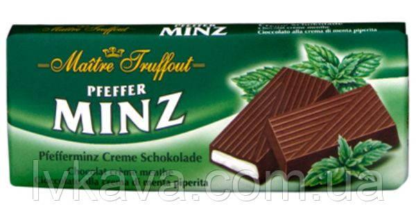 Черный шоколад  Chocolade Pfeffer Mints  Maitre Truffout  , 100 гр, фото 2