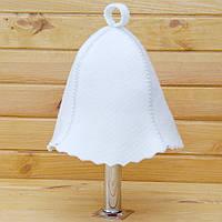 Шапка для бани белая размер 57-58