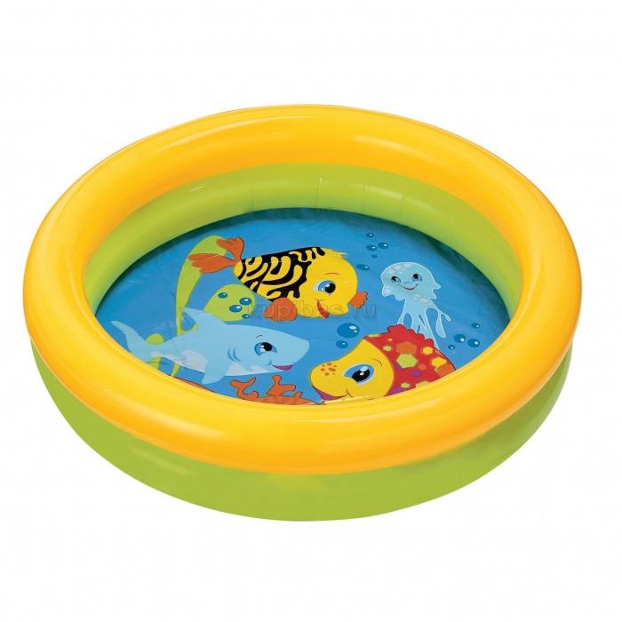 Бассейн арт 59409   круглый, детский, 61-15 см,2 кольца,1-3 года,рем компл,2 вида,в кульке,25-25-3см