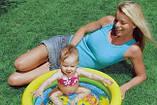 Бассейн арт 59409   круглый, детский, 61-15 см,2 кольца,1-3 года,рем компл,2 вида,в кульке,25-25-3см, фото 2
