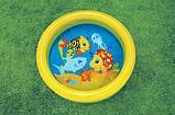 Бассейн арт 59409   круглый, детский, 61-15 см,2 кольца,1-3 года,рем компл,2 вида,в кульке,25-25-3см, фото 3