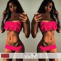 Модный женский купальник в стиле бандо (3 цвета)