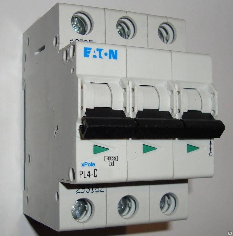 Автоматический выключатель Eaton (Moeller) PL4, C 10А 3- пол., 4,5kA