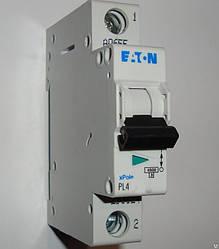 Автоматический выключатель Eaton (Moeller) PL4, C 6А 1- пол., 4,5kA