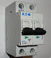 Автоматический выключатель Eaton (Moeller) PL4, C 10А 2- пол., 4,5kA