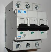 Автоматический выключатель Eaton (Moeller) PL4, C 6А 3- пол., 4,5kA