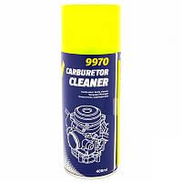 Очиститель карбюратора ОПТ! 10ШТ MANNOL 9970 Carburetor Cleaner 400ml (Vergaser Reiniger /  Спрей для очищення карбюратора (аерозоль) (пр-во Mannol