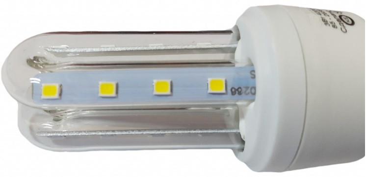 Светодиодная лампа Е27 2U 3 Вт теплый белый (3200К)