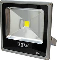 Прожектор светодиодный LL-273 1LED 30W 6400K 220V (22*22.5*5.5) Серебро IP66