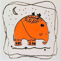 Orly Elephant OR (Орли слон оранжевый)