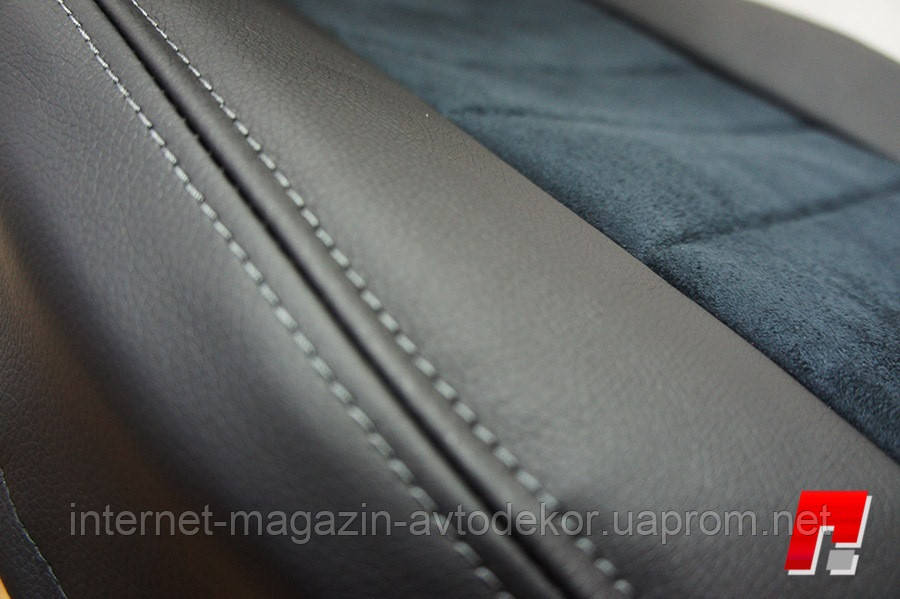 Авточехлы экокожа со строчкой для Citroen DS4 2010- г.