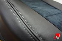 Авточехлы экокожа со  строчкой для Chevrolet Lanos.