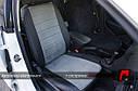Авточехлы экокожа со  строчкой для Peugeot (Пежо), фото 2