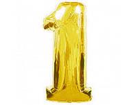 Цифра 1 фольгированная золотая 901761О
