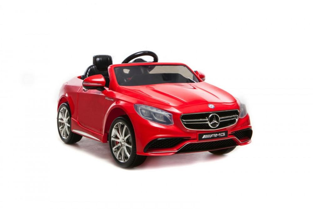 Детский электромобиль Mercedes Benz S63 Красный