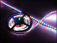 Гибкая светодиодная RGB лента с влагозащитой, SMD5050, 30leds/m, 10мм*2,4мм, 12Vdc, 600mA/m, 140Lm/m