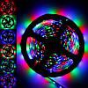 Гнучка світлодіодна RGB стрічка без вологозахисту, SMD5050, 30leds/m, 10мм*2,4 мм, 12Vdc, 600mA/m, 140Lm/m