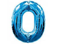 Цифра 0 фольгированная голубая 901760А