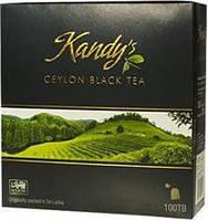 Цейлонский черный листовой чай Kandy*s Ceylon black leaf tea 100 пакетиков