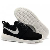 Кроссовки Nike Roshe Run Black/White замшевые 40