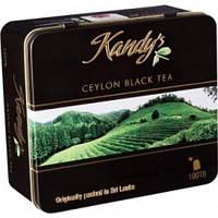 Цейлонский черный листовой чай Kandy*s Ceylon black leaf tea 100 пакетиков ( 200 гр)