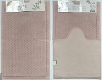 Набор ковриков для ванной и туалета  Arya Point розовый