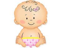 Фольгированный шар 901752 Ребенок девочка