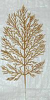 Лист золото коралл 40х20