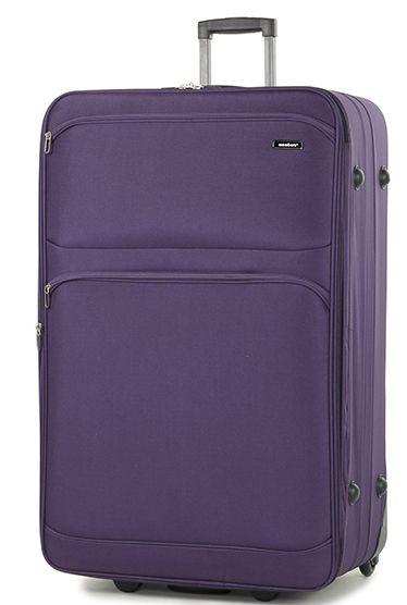 Вместительный тканевый 2-х колесный чемодан 131 л. Members Topaz (XL), 922616 фиолетовый