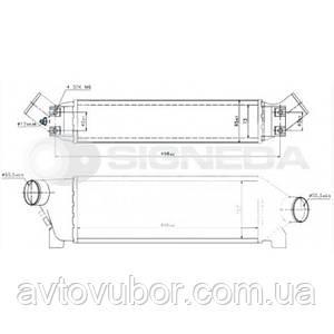 Интеркулер Ford Transit 00-06 RI96642 2C119L440BA