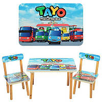 Детский столик со стульчиками TAYO 501-21 Тачки HN