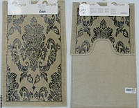 Набор ковриков для ванной и туалета  Arya Saray бежевый с серым