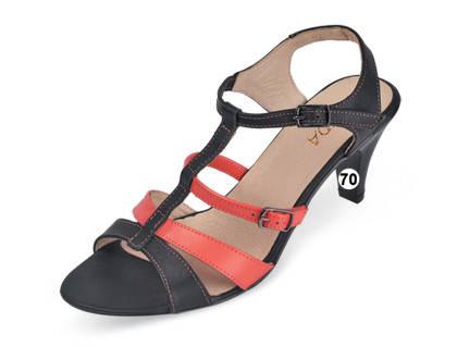 Босоножки женские кожаные на устойчивом каблуке МИДА , фото 2