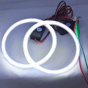 Led кольца в фару (ангельские глазки) 115-99мм COB суперяркие, с рассеивателями, фото 2