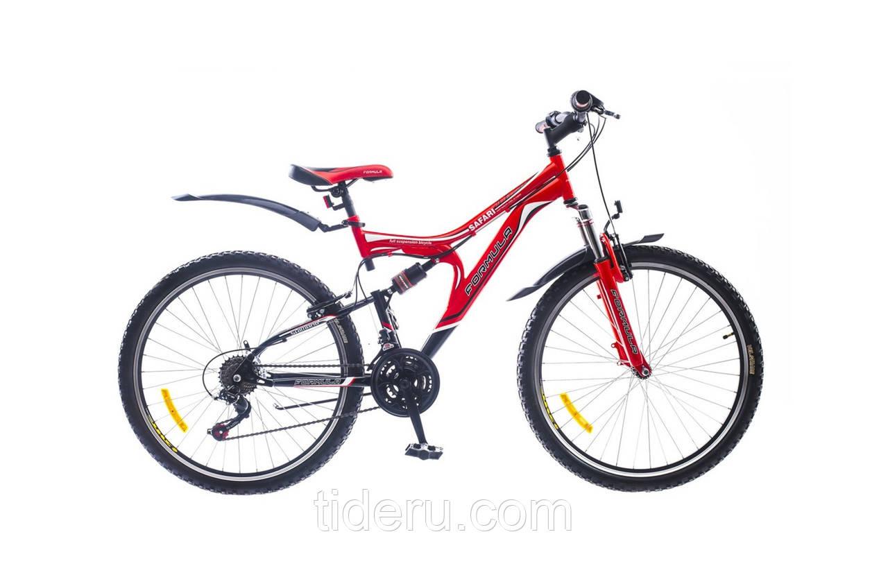 """Велосипед Formula SAFARI (2015),  рама 18""""  (чёрно-красный)"""