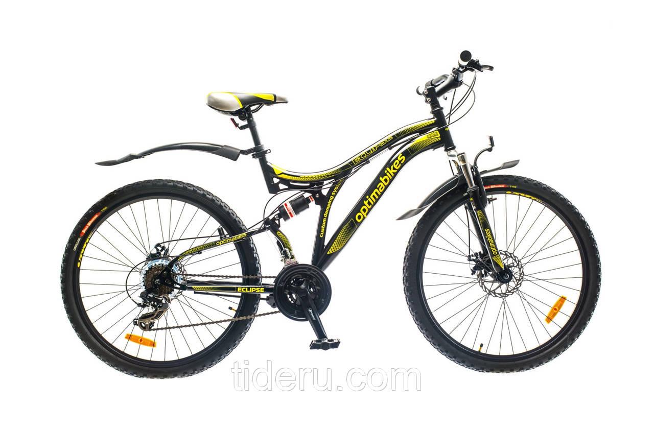 """Велосипед OptimaBikes ECLIPSE (2015),  рама 19""""  (черно-желтый)"""