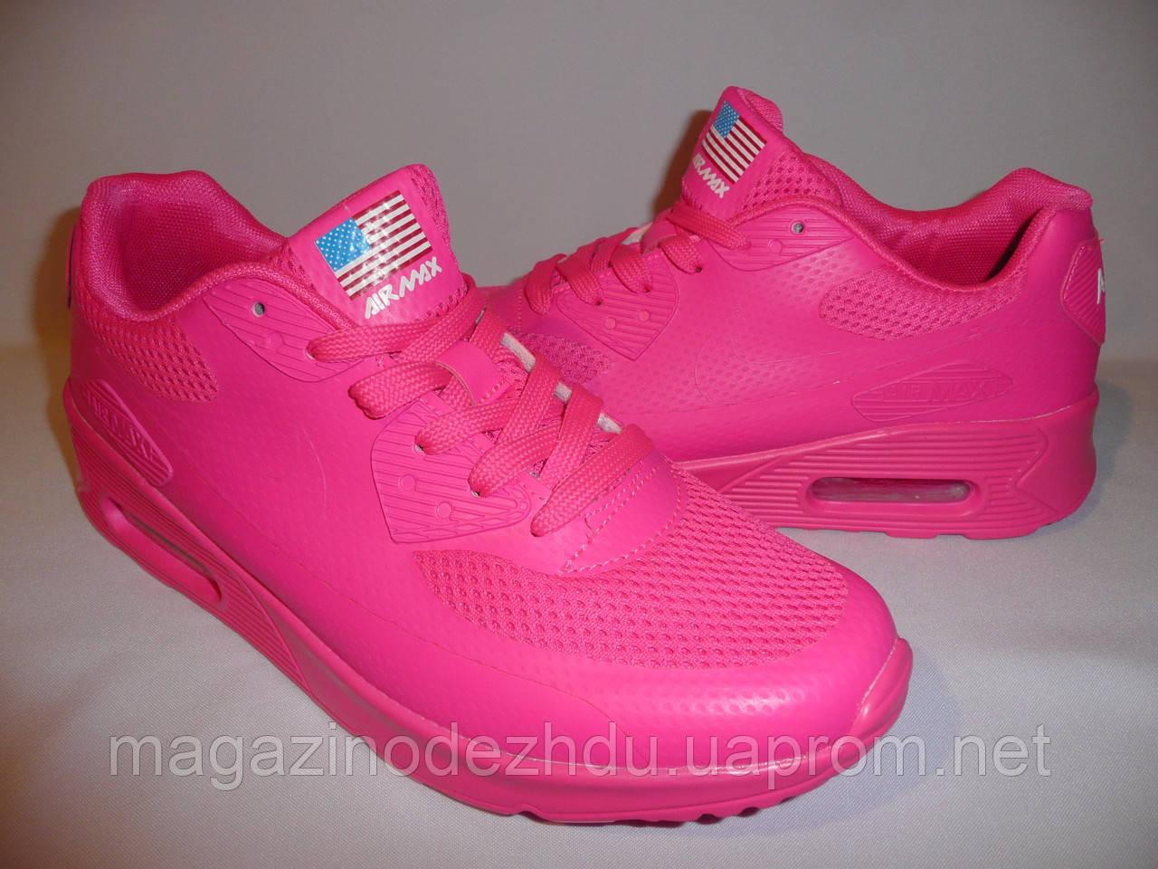c4947a55 Купить Женские кроссовки для девушек nike для бега и фитнеса air max 90  hyperfuse розовые сетка