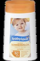 Babylove sensitive Sonnenmilch LSF 50+, 200 ml - Детское солнцезащитное молочко фактор защиты 50+,  200 мл