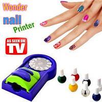 Машинка-принтер для нанесения рисунков на ногти Wonder nail printer, Принтер для печати на ногтях